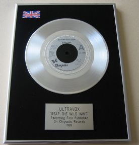 ULTRAVOX - REAP THE WILD WIND PLATINUM single presentation DISC